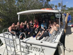 Private SCUBA tours leaving the Island Ventures dock with happy snorkelers