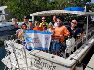 Dive against debris cleanup crew