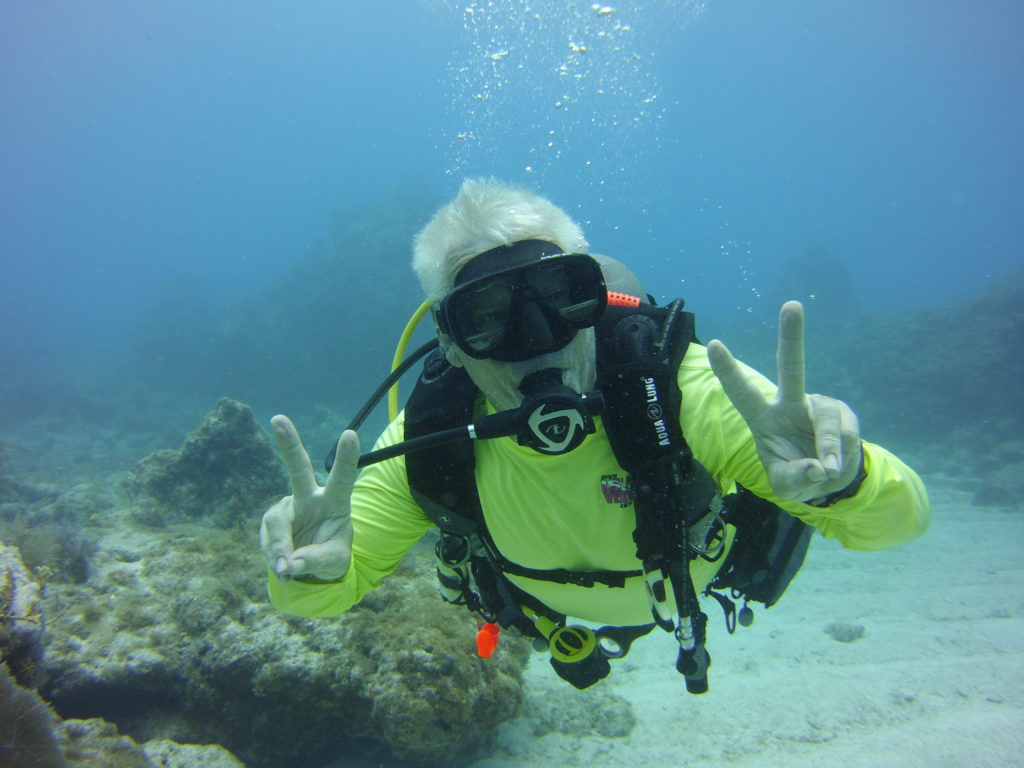 Captain Wolfman on Molasses reef