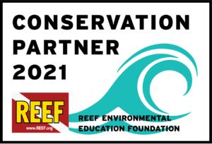 REEF conservation partner 2021 sticker
